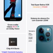 Miniatura - Telefone Celular Apple Iphone 12 Pro Max 128GB Dua