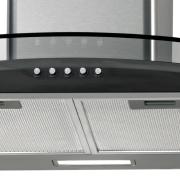 Miniatura - COIFA 90CM FISCHER TALENT PAREDE FIT VIDRO CURVA