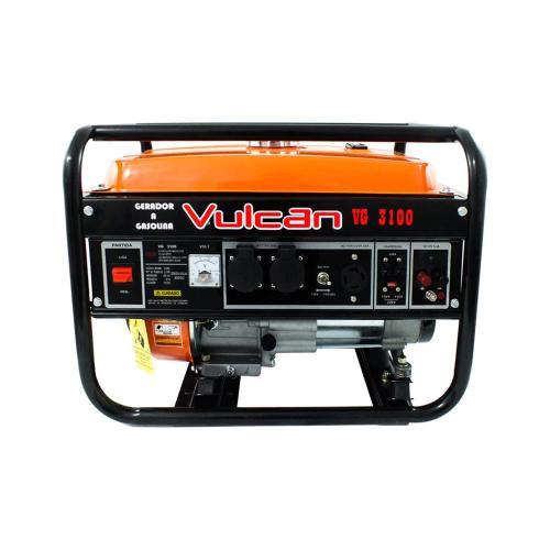 Foto - GERADOR GAS.4T VULCAN 6,5HP 3100W VG3100