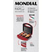 Miniatura - GRILL/SANDUICHEIRA MONDIAL S19 RED PREMIUM