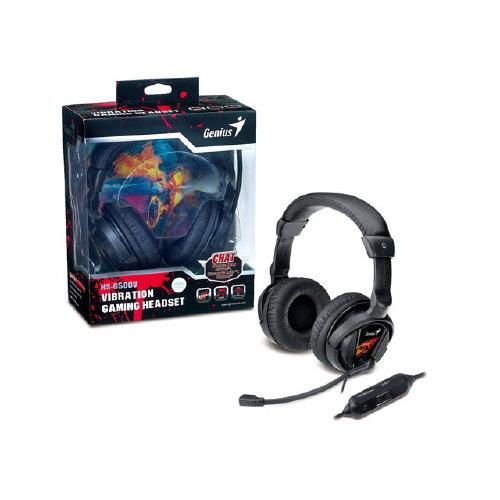 Foto - HEADSET GAMER GENIUS 31710020101 HS-G500V GAMER COM FUNCAO VIBRACAO USB