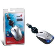 Foto de MOUSE GENIUS 31010126101 NX-MICRO PRATA USB COM CABO RETRATIL