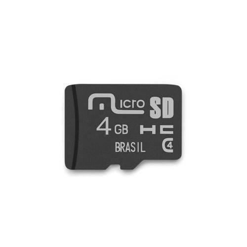 Foto - CARTAO DE MEMORIA MICRO SD 4GB MULTILASER