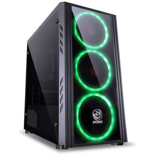 Foto - GABINETE MID-TOWER SATURN C/ 3 FANS PCYES