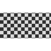Miniatura - TAPETE PASSADEIRA XADREZ 43CMX1,30M KAPAZI