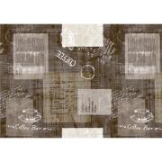Foto de TOALHA DE MESA PVC COFFEE BAR MARROM 1,37M X 2,10M