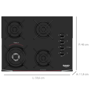 Miniatura - FOGAO 4B DAKO TURBO COOKTOP GLASS