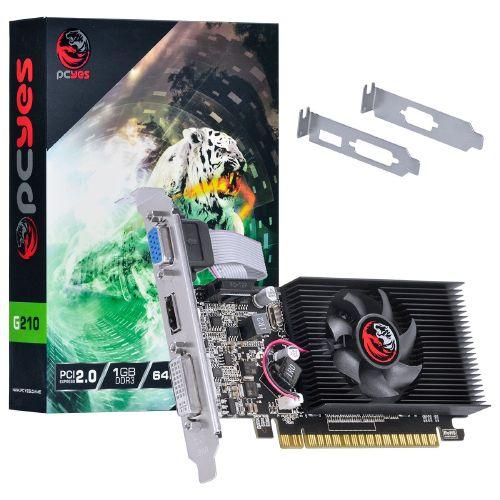 Foto - PLACA DE VIDEO NVIDIA GEFORCE G210 1GB DDR3 64 BITS COM KIT LOW PROFILE INCLUSO