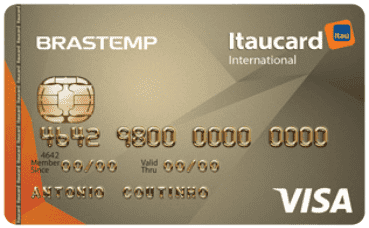 Cartão Brastemp Itaucard Internacional Visa