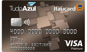 Cartão TudoAzul Itaucard 2.0 Platinum Visa