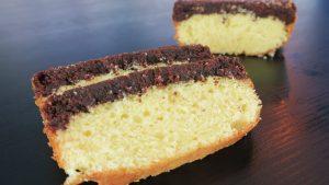 Delicioso bolo de manteiga com brownie da Catia Fonseca