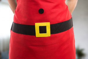Como fazer avental de natal com Lívia Costa