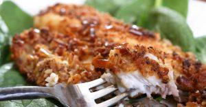 File de peixe em crosta de Bagel do chef Raphael Campos
