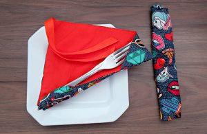 Aprenda a fazer um porta-talheres por Marcia Satiko