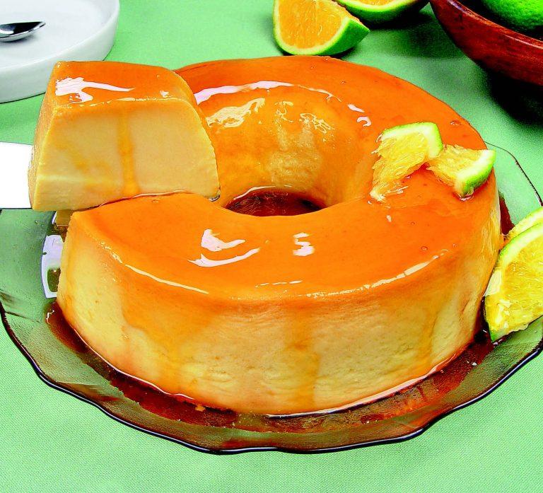 Receita da revista da Catia: Pudim de laranja