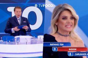 Climão? Ex de Fábio Júnior, Mari Alexandre não cita nome do cantor, pede para Silvio Santos não falar dele e dá cutucada