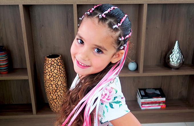 Penteado fitas para crianças por Tia Rosana