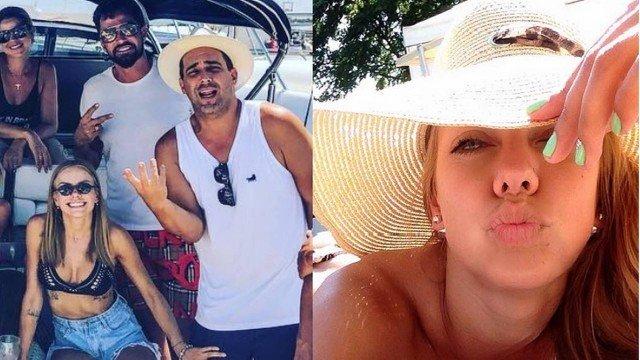 Bastante discreto, André Marques surpreende ao comemorar três anos de namoro com ucraniana em Ibiza
