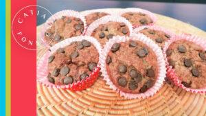 Minha receita de muffins de banana com chocolate!