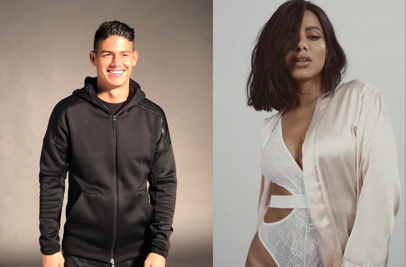 """James Rodríguez mostra Anitta em momento de intimidade: """"Bom demais"""""""
