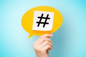 Uso de hashtags por Simone Siqueira