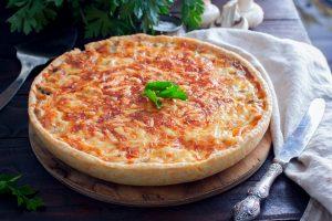 Torta de presunto, queijo e ervilhas do Marcelo Faria