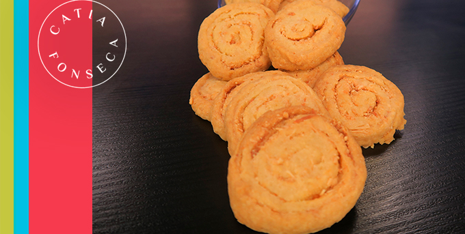 Dá água na boca: biscoito de queijo da Catia!