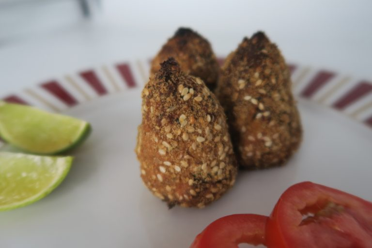 Coxinha de couve flor low carb do chef Felipe Nonato