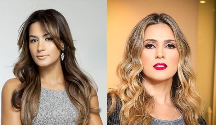 """Esposa de Sertanejo """"peita"""" Nadja Pessoa após ser xingada e a chama de """"vadia"""""""
