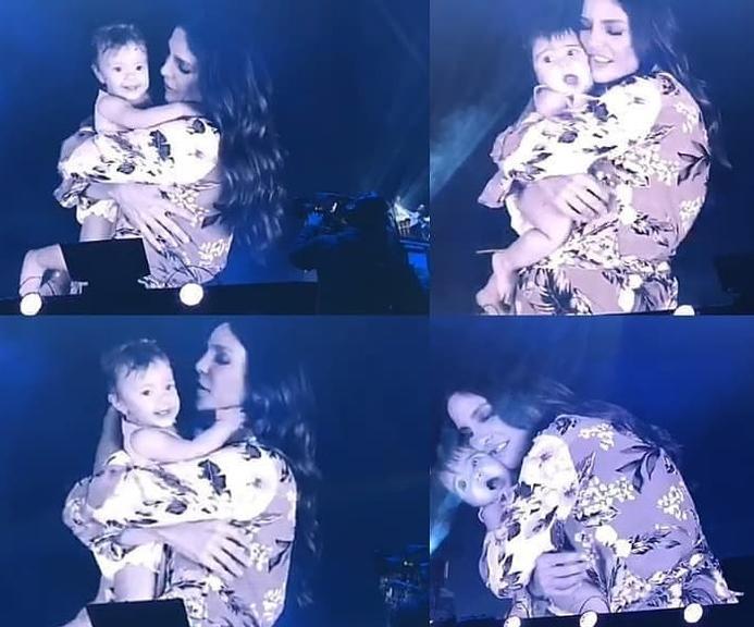 Em show, Ivete Sangalo mostra rostinho das filhas gêmeas e faz pedido emocionante