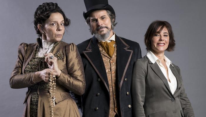 O Tempo Não Para: Dom Sabino propõe relação a três com Agustina e Carmen