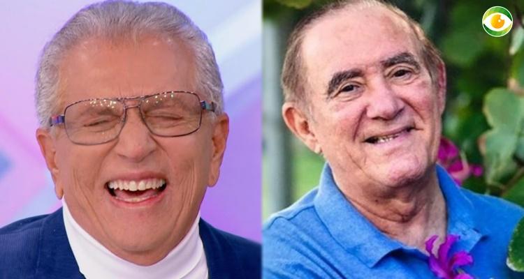 Renato Aragão vai ao SBT estrelar Praça É Nossa com Carlos Alberto e apresentadora da Globo vibra