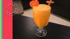 Se refresque com esse maravilhoso Suco de laranja com cenoura!