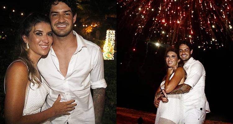 Só love: Rebeca Abravanel e Alexandre Pato curtem Ano Novo juntos na Bahia e apaixonados