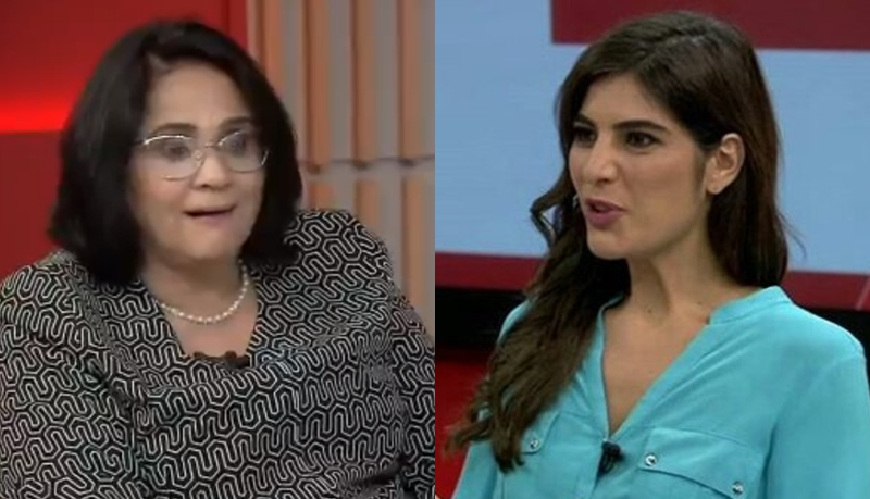Jornalista da Globo afronta ministra de Bolsonaro ao vivo e é ovacionada