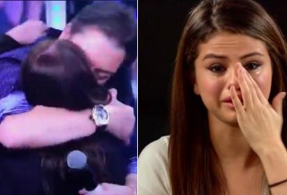 """Faustão """"trai"""" Selena Gomez com Susana Vieira e fãs se manifestam"""