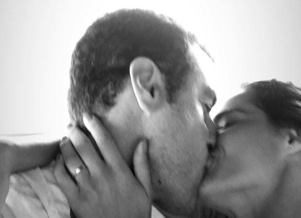 Apaixonado, Joaquim Lopes protagoniza beijo cinematográfico com sua namorada