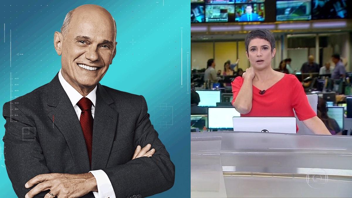 Sandra Annenberg se emociona ao vivo na Globo com morte de Ricardo Boechat