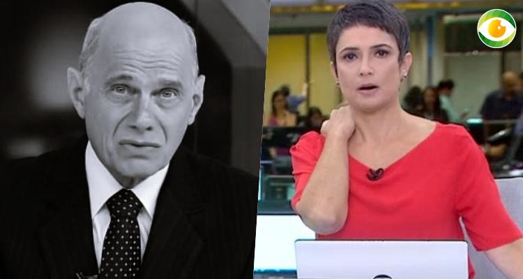 Com bruta perda de Ricardo Boechat, Sandra Annenberg dá show de profissionalismo e sensibilidade na Globo