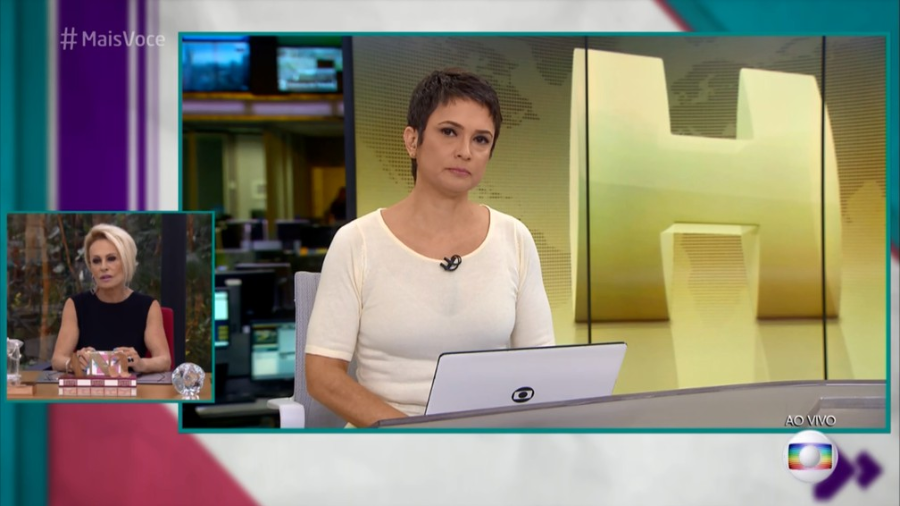 "Sandra Annenberg revela que ficou sabendo da morte de Boechat durante entrada ao vivo na Globo: ""Foi chocante"""