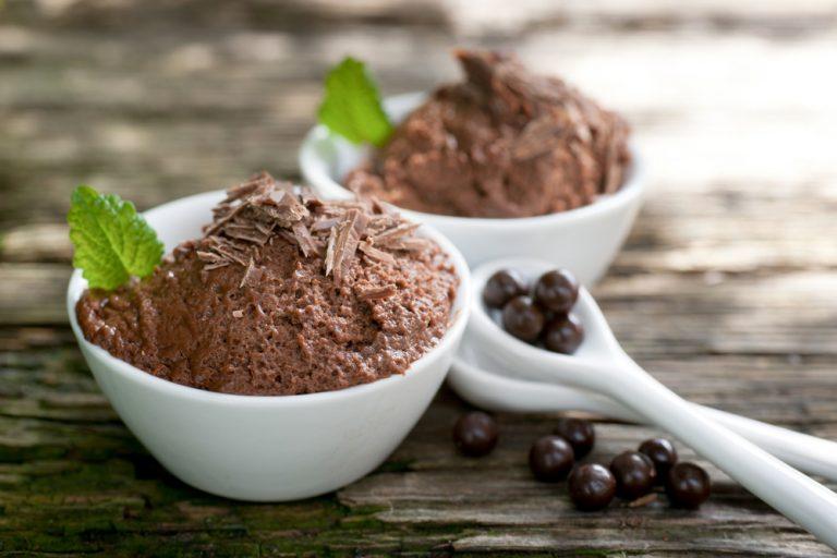 Receita da revista da Catia: Mousse de chocolate aerada