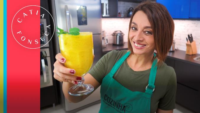 Recupere as energias com este smoothie detox maravilhoso da Catia!