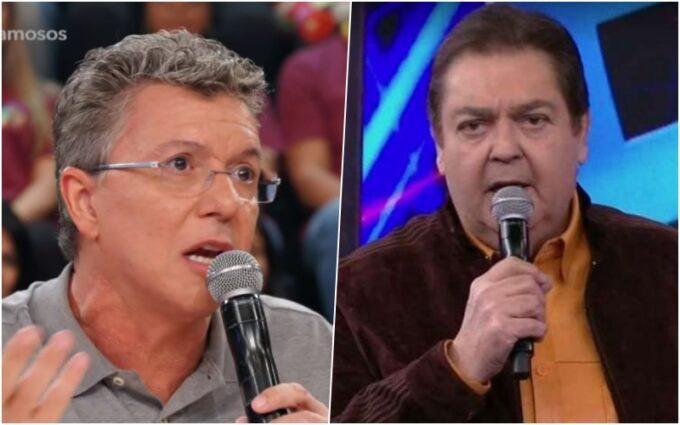 """Boninho ataca Show dos Famosos, Faustão se irrita e dispara: """"onde é que você achou defeito?"""""""