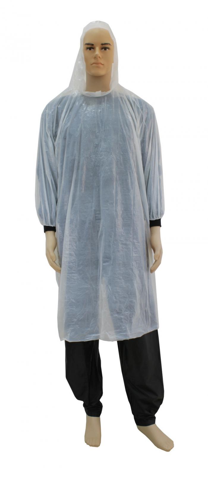 capa de chuva descart�vel transparente de bolso classe