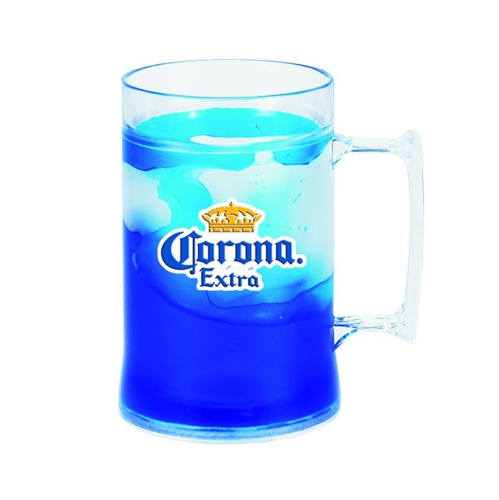 caneca gel t�rmica shopp congelante acr�lica corona extra