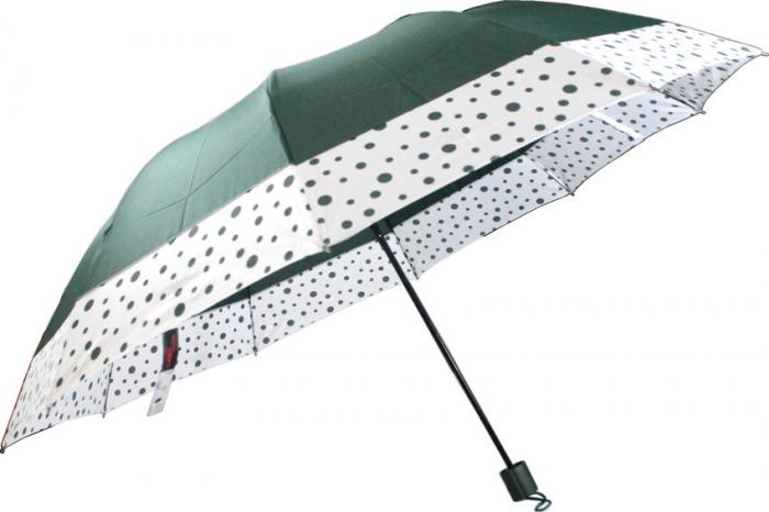 sombrinha guarda chuva de bolsa com borda de bolinhas 10 varetas
