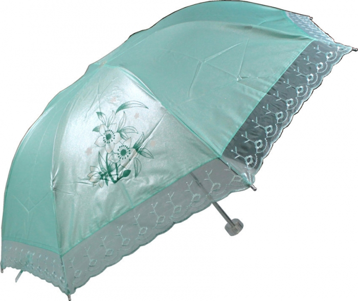 sombrinha guarda chuva de bolsa com borda de renda