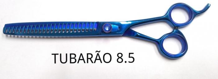293aa072f5272 TESOURA TUBARÃO TITANIO 8.5 SP AZUL - RF GROOM ACESSORIOS PARA BANHO ...