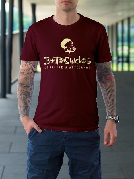 Camiseta - Logo Botocudos Bordô