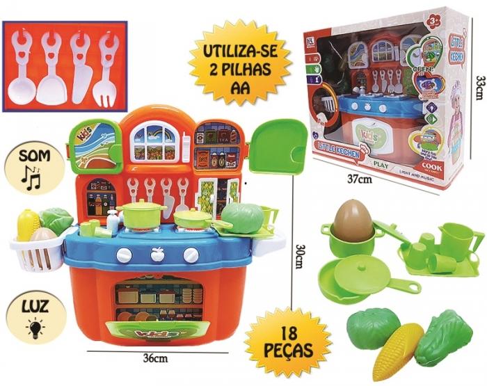 kit cozinha infantil brinquedo com luz som e acess�rios